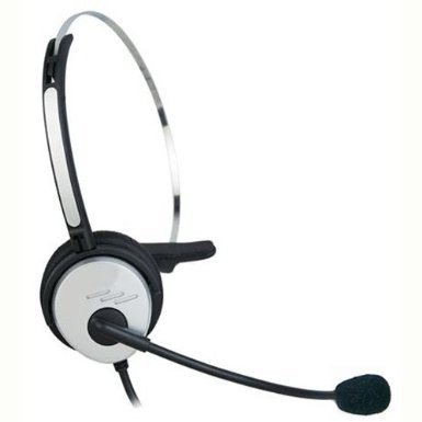 Bigstone Silver Call Center Hands-Free Headset Headphone Desk Telephone Monaural Mic Mircrophone Noice Cancelling