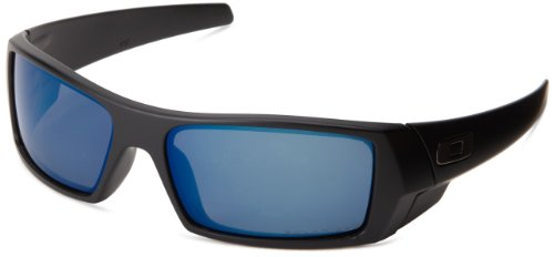 Oakley Men's GasCan Sunglasses,Matte Black/Ice Iridium Polarized,55 mm