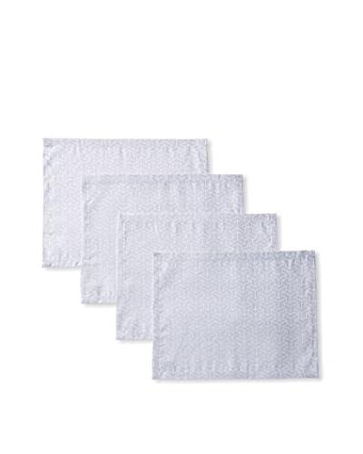 Garnier-Thiebaut Set of 4 Epsilon 2D Placemats, Silver