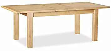 Global Home Products Collection 21 Extending Table, Wood, Brown, Large