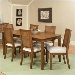 Home Styles Jamaican Bay 7 Piece Dining Set in Soft Mahogany