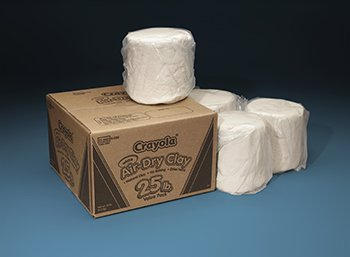 Crayola Air Dry Clay 25 Lb White Pk
