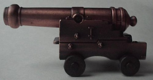 Miniature Naval Cannon w/ Brass Barrel