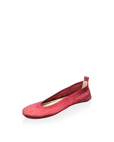 Yosi Samra Women's Samara Matte Waxed Croco Leather Ballet Flat