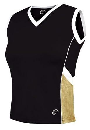 Aero Metallic Cheerleading Uniform Shell Top - Youth Girls Sizes by Chasse