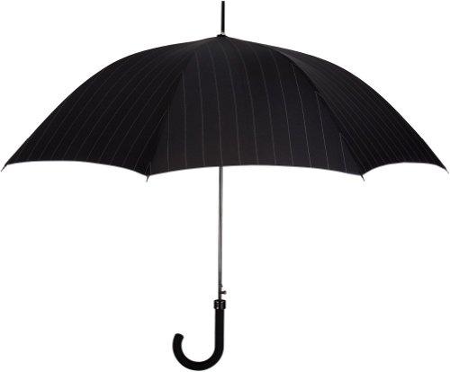 leighton-pinstripe-classic-stick-46-umbrella-black-grey