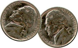 Double Sided Coin - Nickel - Head - You're ALWAYS a Winner!