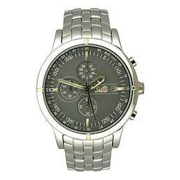 Dolce & Gabbana Oxford Chronograph Stainless  Steel Anthracite Dial Men's Watch #DW0480
