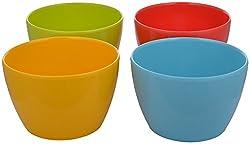 Ektra Melamine Four Season Multi Purpose Bowl, 450 ml, Set of 4