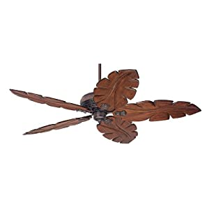 Hunter Fan 28614 72-Inch Fellini Ceiling Fan Hand Carved Wood Blades, Cocoa