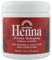 Rainbow Research Henna Hair Color And Conditioner Persian Mahogany Medium Auburn 4 Oz