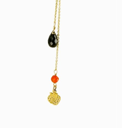 Amadoria Victoria Necklace Gf Smokey Quartz & Gf Strawberry