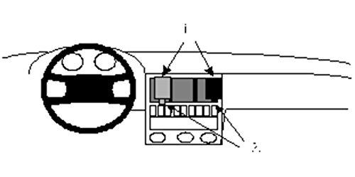 Brodit-851947-ProClip-fr-Audi-80-Center-Mount-schwarz