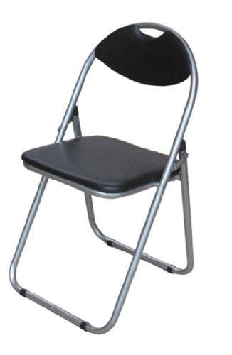 Foldable Pad Padded Chair Flat Folding Easy Storage Steel Tubes Sponge Padding