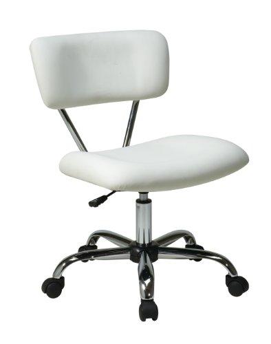 Ave Six ST181-V11 Vista Task Office Chair, White Vinyl