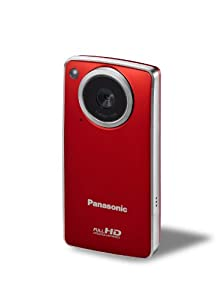 Panasonic TA-1 Ultrathin HD Pocket Camcorder Enabled with Skype and iFrame (Red)
