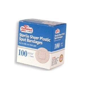 Sterile Sheer Plastic Spot Bandages- 100 ea