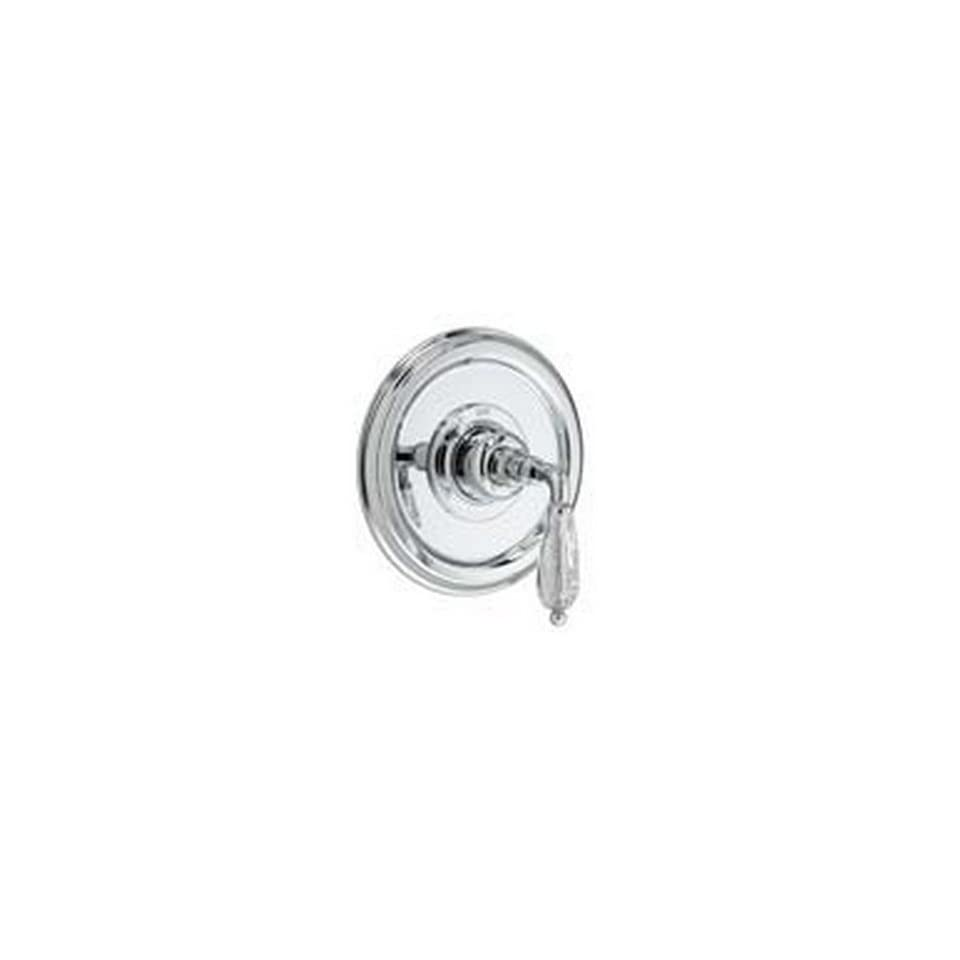 Jado 853539.144 Classic Pressure Balance Shower Valve Trim Kit with Crystal Lever Handle, Brushed Nickel