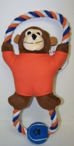 Classic Pet Products Plush, Rope, Canvas and Tennis Ball Monkey Dog Toy