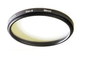 58mm 8 Point Star Light Flare Cross Filter 8-pointed