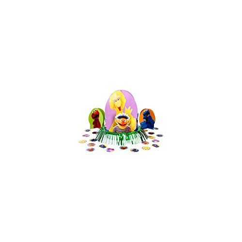 Sesame Street 1st Birthday Centerpiece (3 Centerpieces And Confetti)