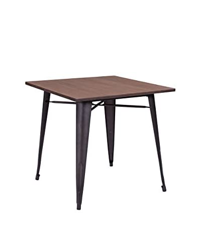 Zuo Modern Titus Industrial Dining Table, Rustic Wood
