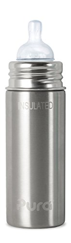Pura Kiki Insulated Stainless Steel Infant Bottle, 9 ounce - 1