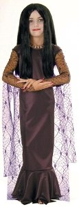 [Morticia - Addam's Family Kids Costume Medium 8-10/ 10] (The Addams Family Wednesday Costumes)