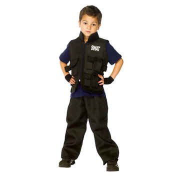 SWAT Officer Kids Costume - Child Large 10-12