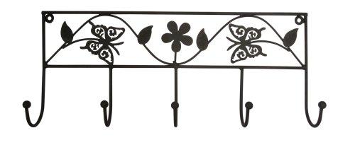 5-Haken-Garderobe-Schmetterling