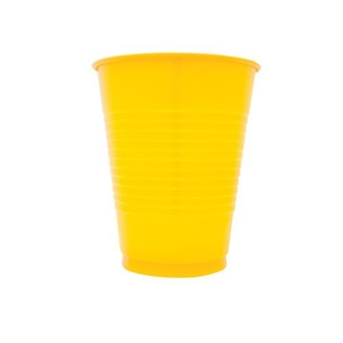 Creative Converting 600 Count Case Touch Of Color Plastic Cups, 16-Ounce, School Bus Yellow