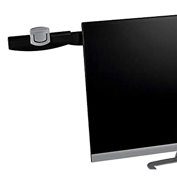 3M Monitor Mount Document Clip, Mounts Right or Left with Command Adhesive, Swings Forward and Back for Easy Viewing and Storage, 30 Sheet Capacity, Black (DH240MB)