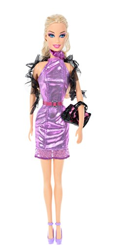 Banana Kong Doll's Exquisite Purple Sleeves Dress Accessories Set