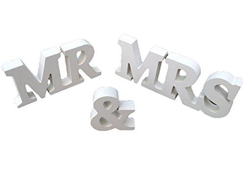ruichy Mr & Mrs Décoration Bois lettres/Cadeau de Mariage