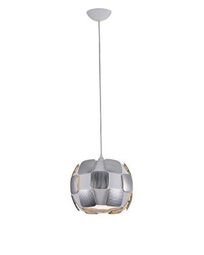 Access Lighting Layers 1-Light LED 11 Pendant, Chrome/White