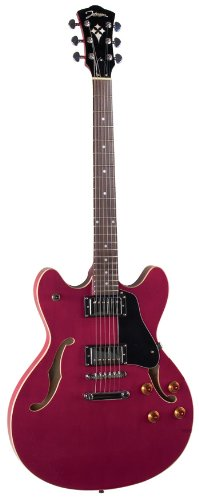 Johnson Js-500-Rc Grooveyard Electric Guitar, Cherry Red