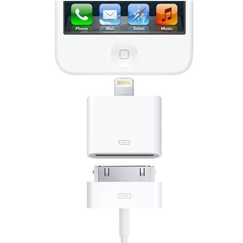 ADATTATORE da connettore LIGHTNING 8 a 30 PIN per iPhone 5 iPad Mini iPad 4 Retina iPod Touch 5 - BIANCO