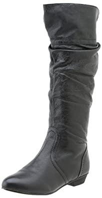 Steve Madden Women's Candence Boot,Black Leather,10 M US