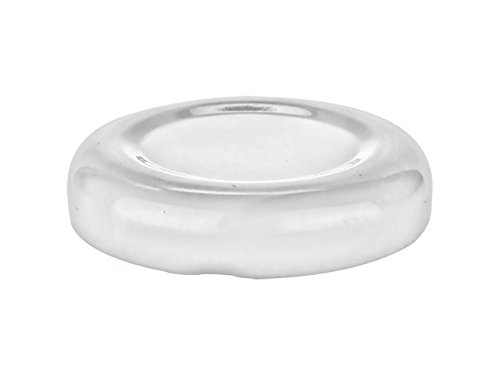 Nakpunar 24 pcs White 38 mm Glass Bottle Lids - 38 TW Lug Lids