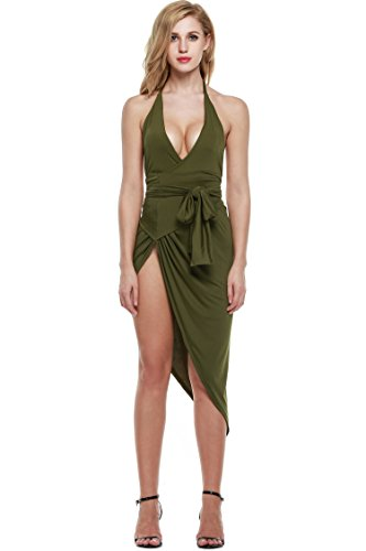 Zeagoo-Womens-Summer-V-Neck-Backless-High-Slit-Bandage-Party-Dress