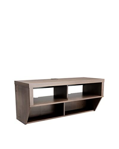 Prepac Series 9 Designer Collection Wall-Mounted AV Console, Espresso
