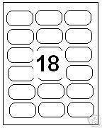 Lot de 100 feuilles d'étiquettes à adresse A4-18 étiquettes Par feuille