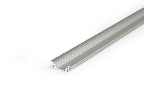 2m einbau aluprofil groove gr 2 meter aluminium profil leiste eloxiert f r led streifen set. Black Bedroom Furniture Sets. Home Design Ideas