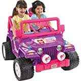Fisher-Price Power Wheels Purple Barbie Jammin' Jeep 12-Volt Battery-Powered Ride-on