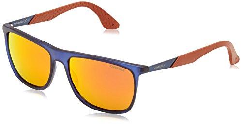 Carrera - Occhiali da Sole 5018/S UZ, Uomo, Lenti: Red Fl, Montatura: Bluette Blue (MJA), 56
