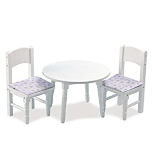 kidkraft lil 39 doll table and chair set toys games. Black Bedroom Furniture Sets. Home Design Ideas