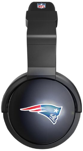 Ihip Nfh44Nep Official Nfl New England Patriots Pro Dj Led Light-Up Logo Headphones
