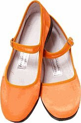 Cheap Mary Jane Cotton China Doll Slippers (Orange) (B002DW0IUK)