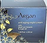 Argan Anti Aging Night Cream with Dead Sea Minerals & Argan Oil 1.69 fl. oz
