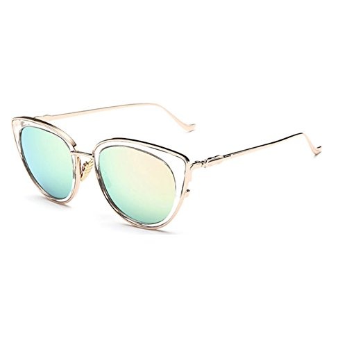 [Sinkfish SG80062 Sunglasses for Women,Anti-UV Cat Eye Non-Polarizer - UV400/Green Lens] (Prescription Colored Contact Lenses)